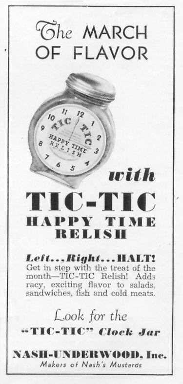 TIC-TIC HAPPY TIME RELISH WOMAN'S DAY 03/01/1939 p. 51