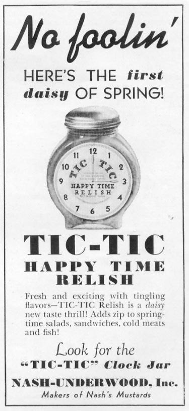 TIC-TIC HAPPY TIME RELISH WOMAN'S DAY 04/01/1939 p. 42