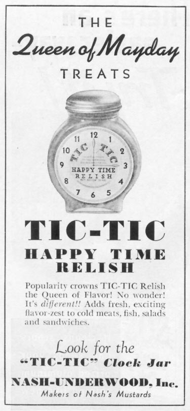 TIC-TIC HAPPY TIME RELISH WOMAN'S DAY 05/01/1939 p. 48