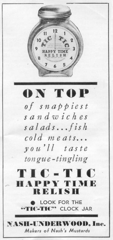 TIC-TIC HAPPY TIME RELISH WOMAN'S DAY 06/01/1939 p. 49