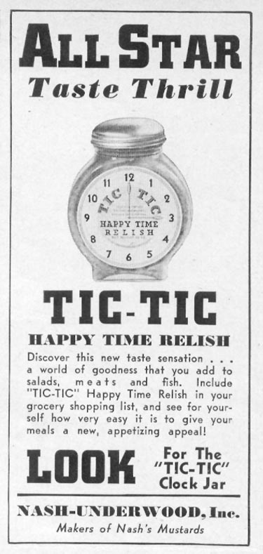 TIC-TIC HAPPY TIME RELISH WOMAN'S DAY 11/01/1938 p. 47