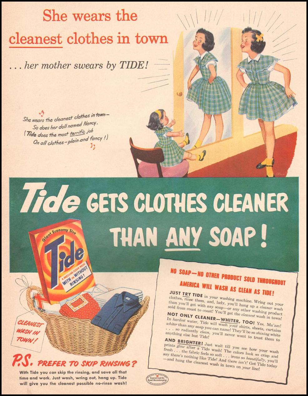 TIDE DETERGENT LIFE 04/30/1951 p. 46