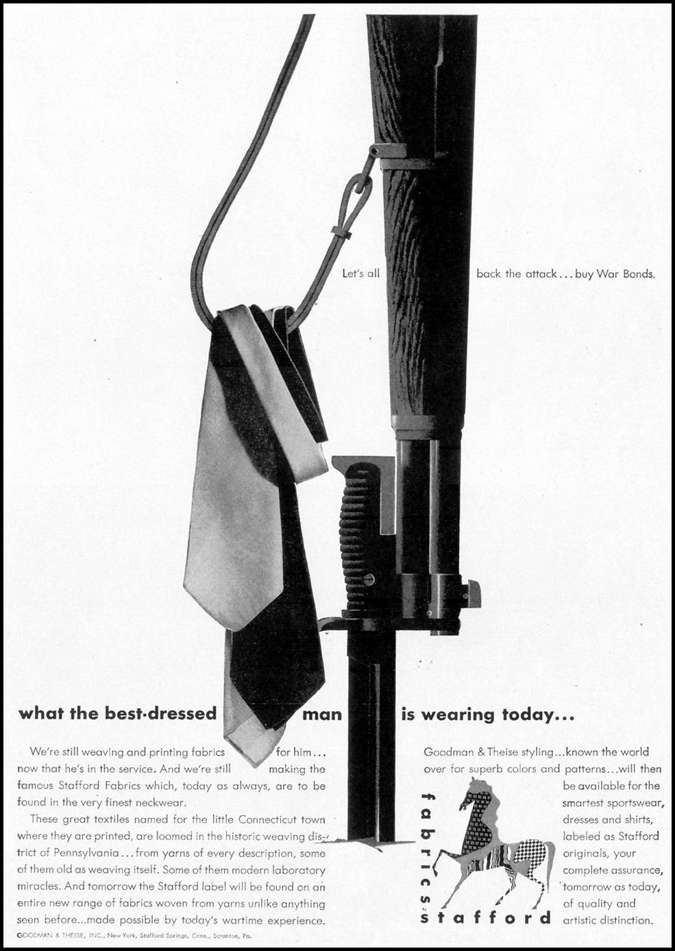 STAFFORD FABRICS LIFE 02/21/1944 p. 81