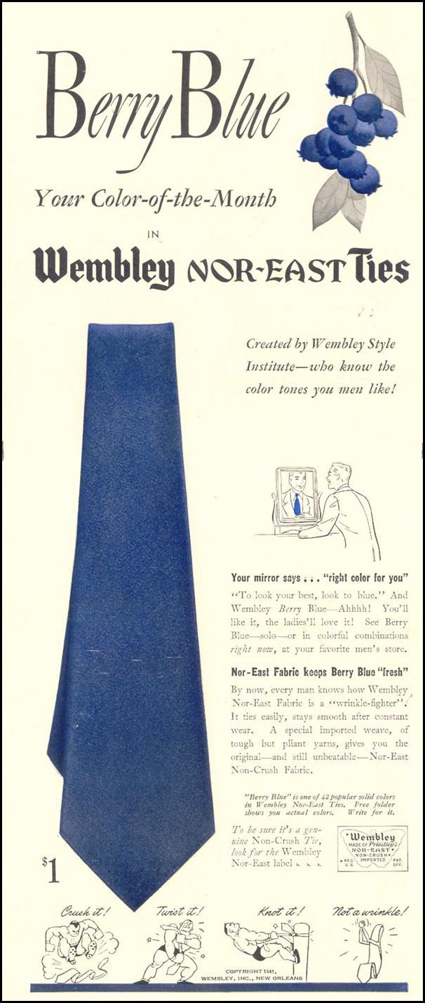 WEMBLEY NOR-EAST TIES LIFE 10/13/1941 p. 94