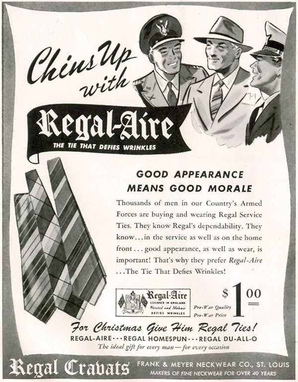 REGAL CRAVATS LIFE 11/30/1942 p. 134
