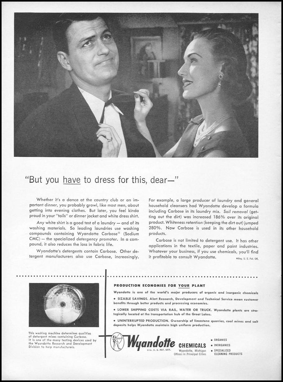 WYANDOTTE CARBOSE DETERGENT NEWSWEEK 06/11/1951 p. 72