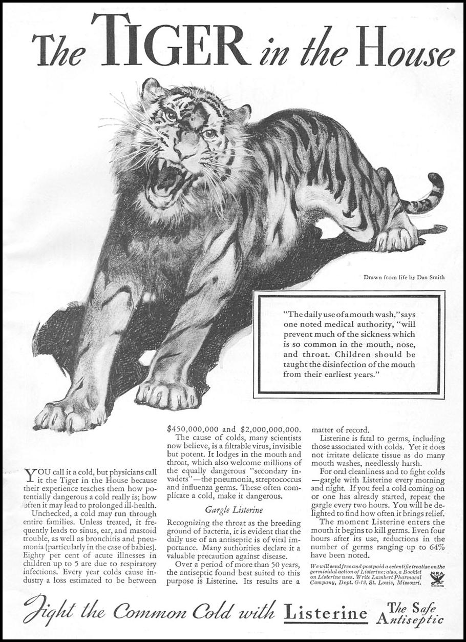 LISTERINE ANTISEPTIC GOOD HOUSEKEEPING 12/01/1934 p. 3