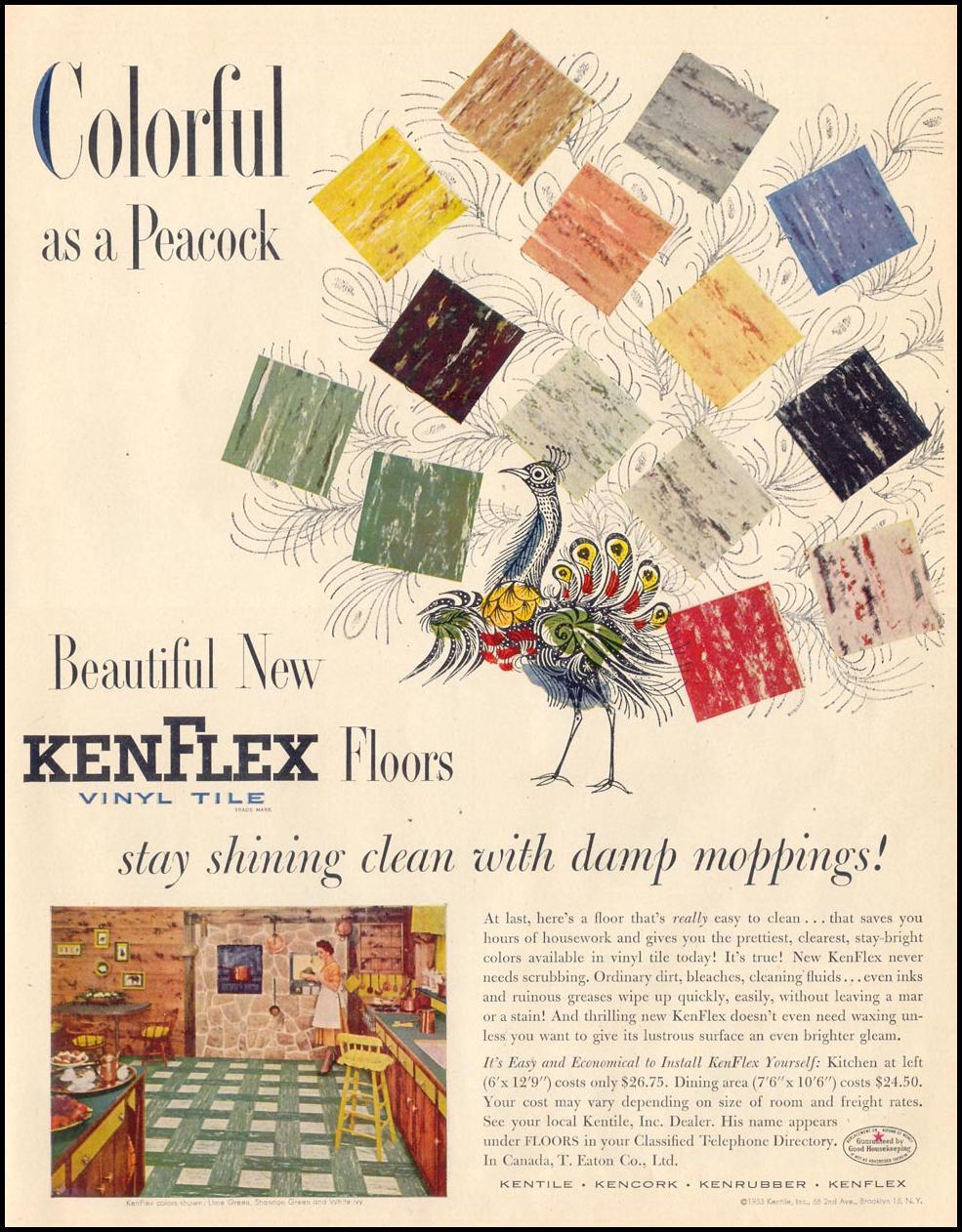 KENFLEX VINYL TILE FLOORING LIFE 04/13/1953 p. 115