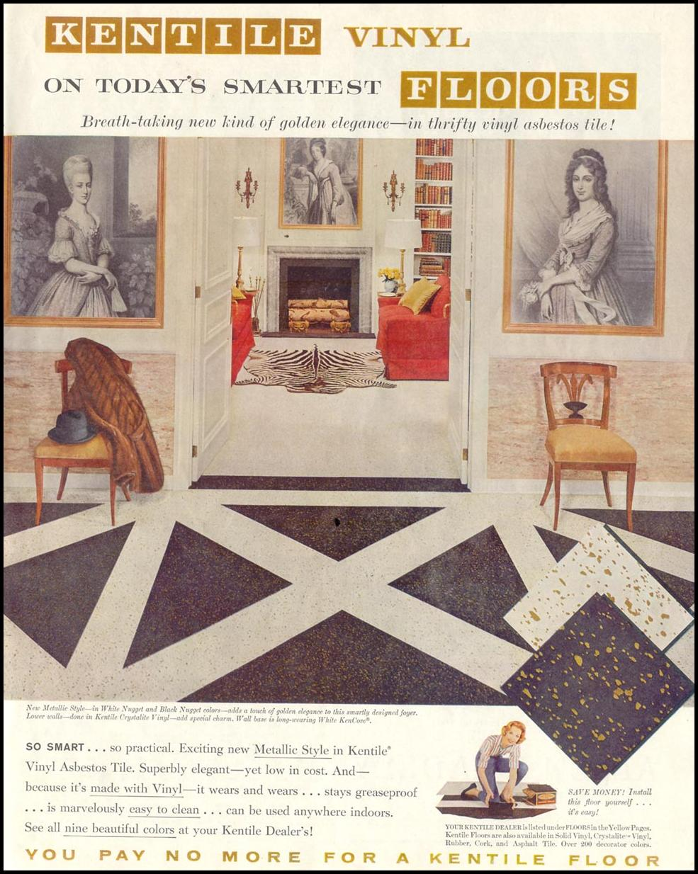 KENTILE VINYL FLOORS SATURDAY EVENING POST 05/02/1959 p. 77