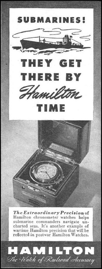 HAMILTON WATCHES LIFE 08/09/1943 p. 100