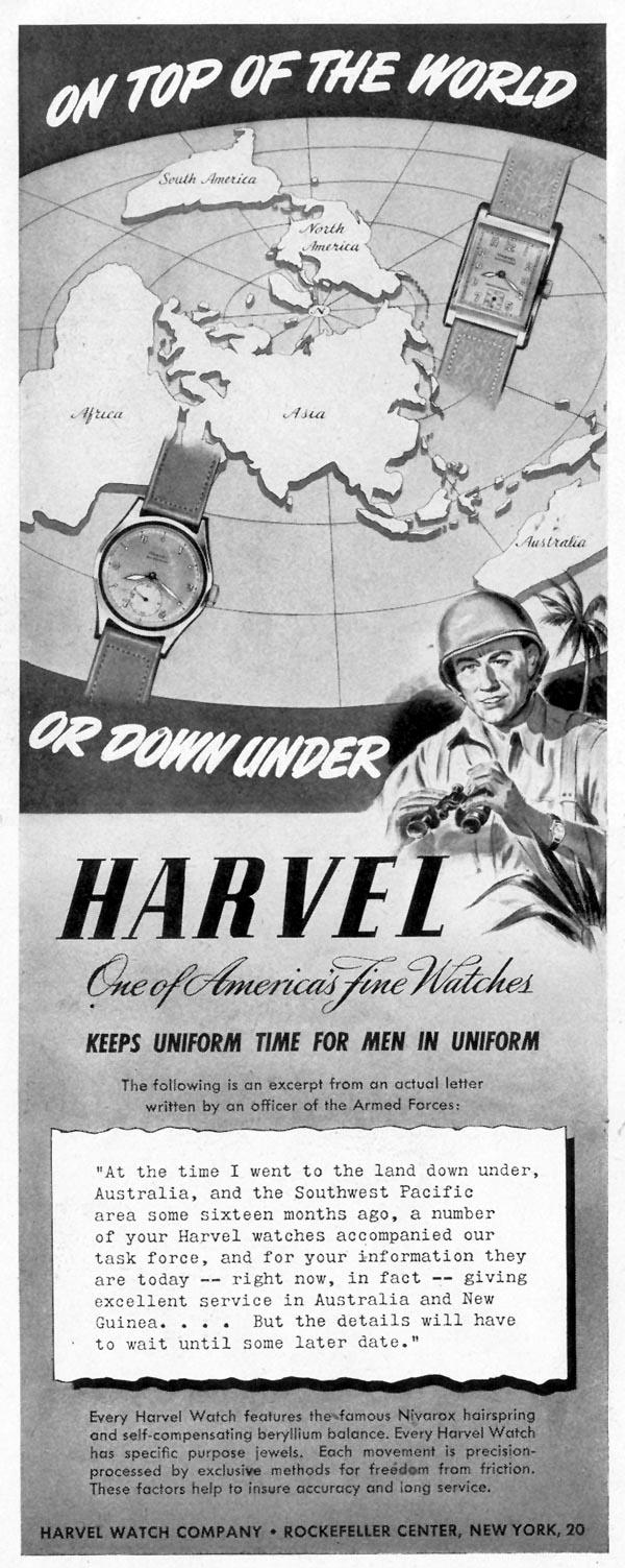 HARVEL WATCHES LIFE 11/08/1943 p. 60