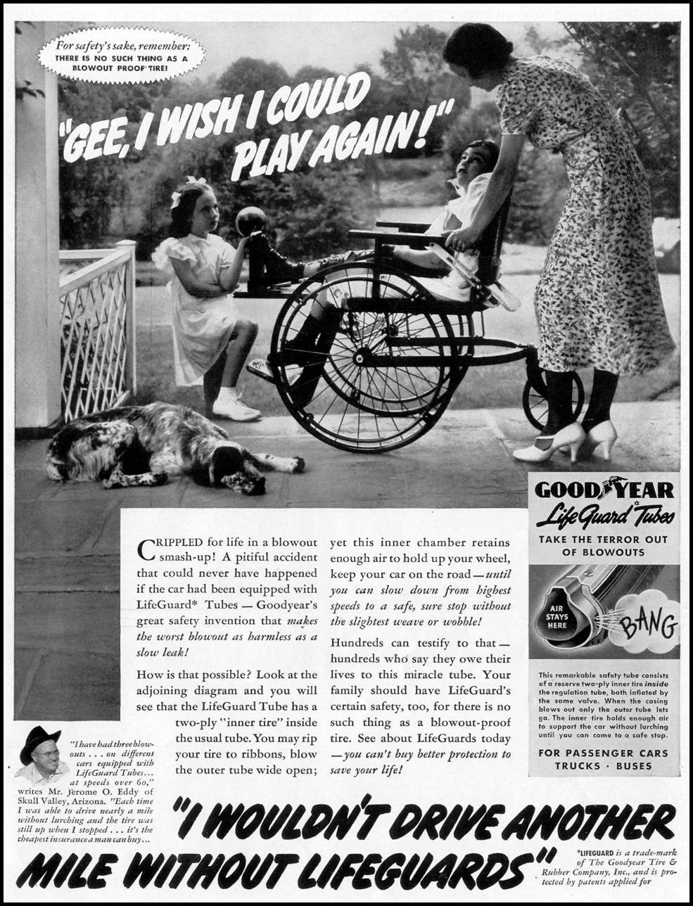 GOODYEAR LIFE GUARD TUBES LIFE 08/02/1937 p. 53
