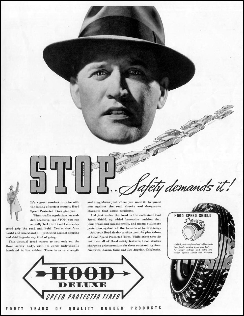 HOOD DELUXE SPEED PROTECTED TIRES LIFE 08/02/1937 p. 77