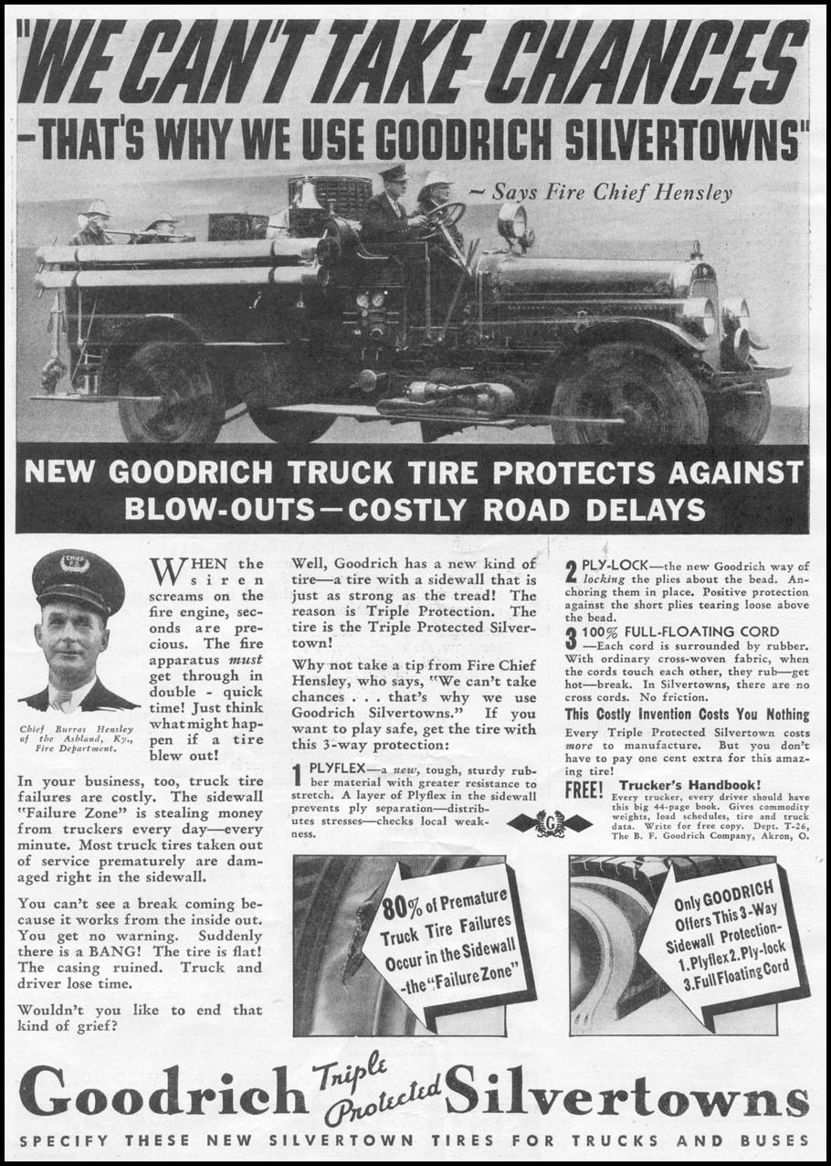 GOODRICH TRIPLE PROTECTED SILVERTOWN TIRES NEWSWEEK 05/04/1935 p. 4