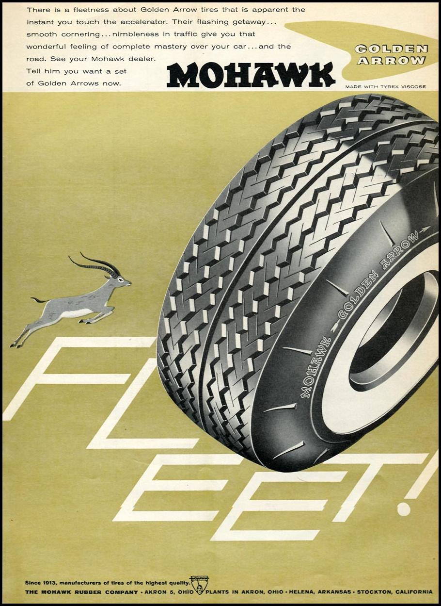 GOLDEN ARROW TIRES SPORTS ILLUSTRATED 05/11/1959 p. 51