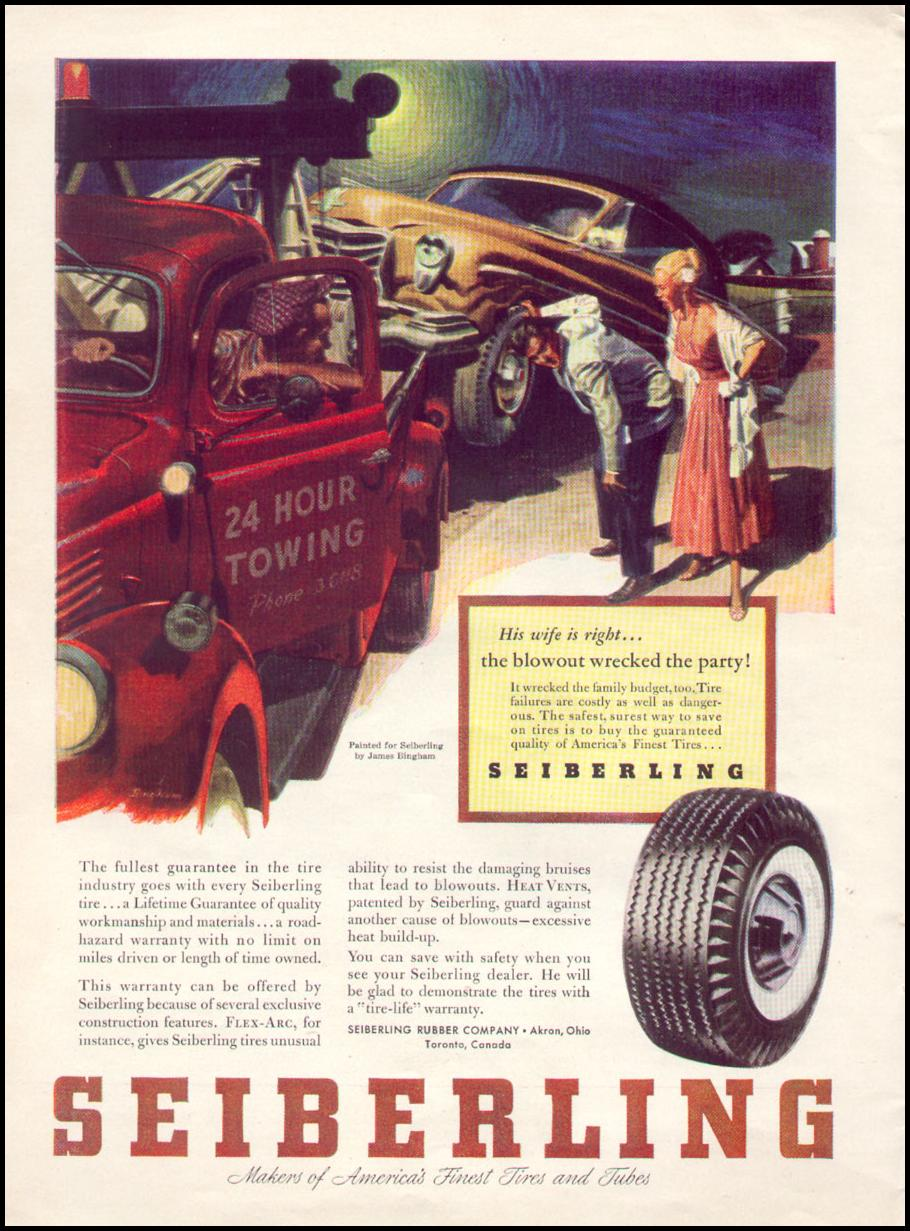 AUTOMOBILE TIRES TIME 08/17/1953 p. 36