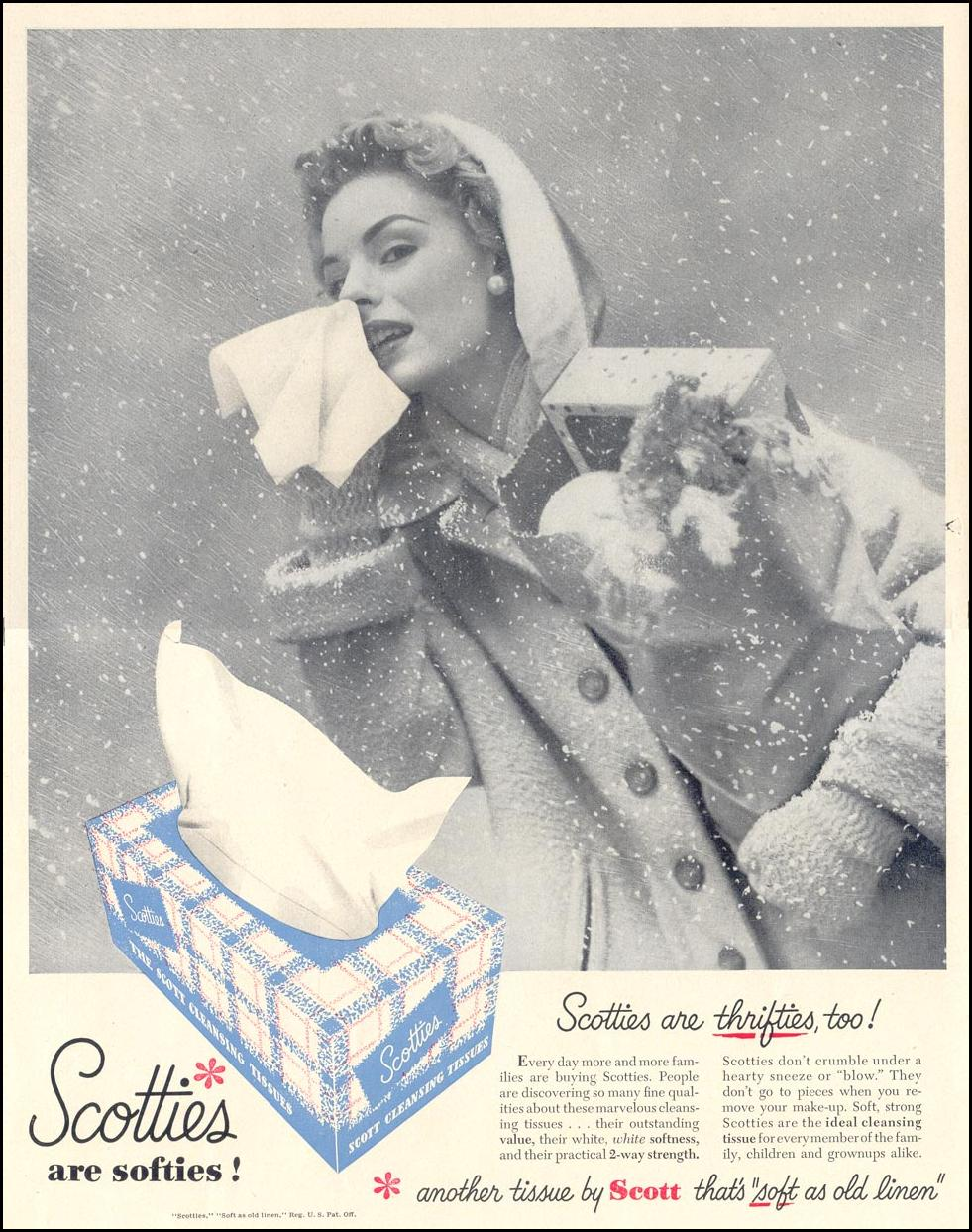 SCOTTIES CLEANSING TISSUES LIFE 01/21/1952 p. 66