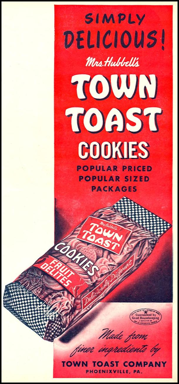 MRS. HUBBELL'S TOWN TOAST COOKIES WOMAN'S DAY 11/01/1946 p. 69