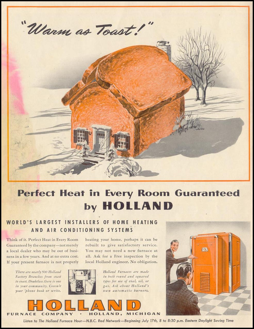 PERFECT HEAT IN EVERY ROOM GUARANTEED LIFE 06/23/1941