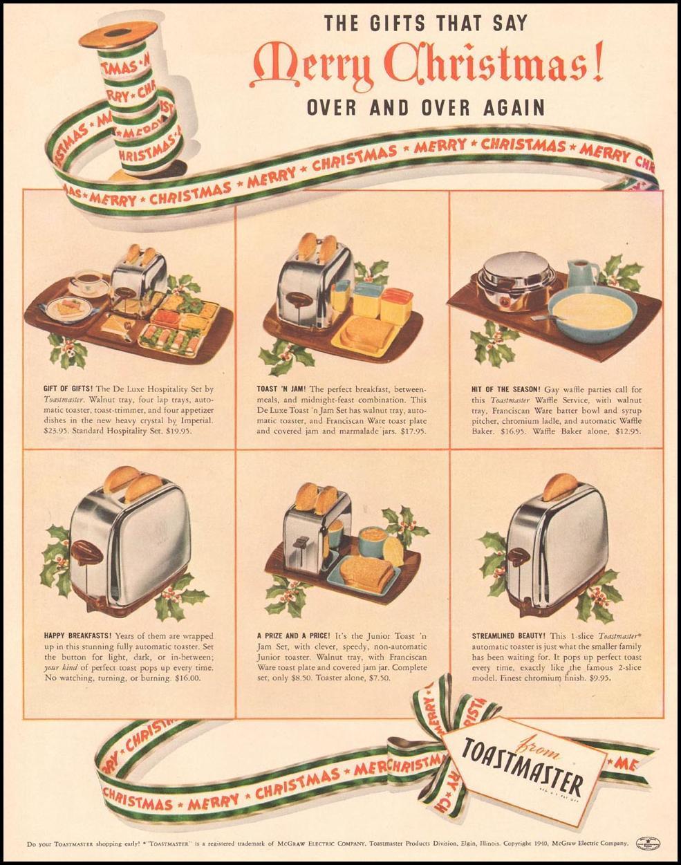 TOASTMASTER TOASTERS LIFE 12/16/1940 p. 52