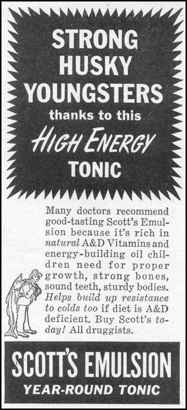 SCOTT'S EMULSION YEAR-ROUND TONIC WOMAN'S DAY 11/01/1945 p. 106