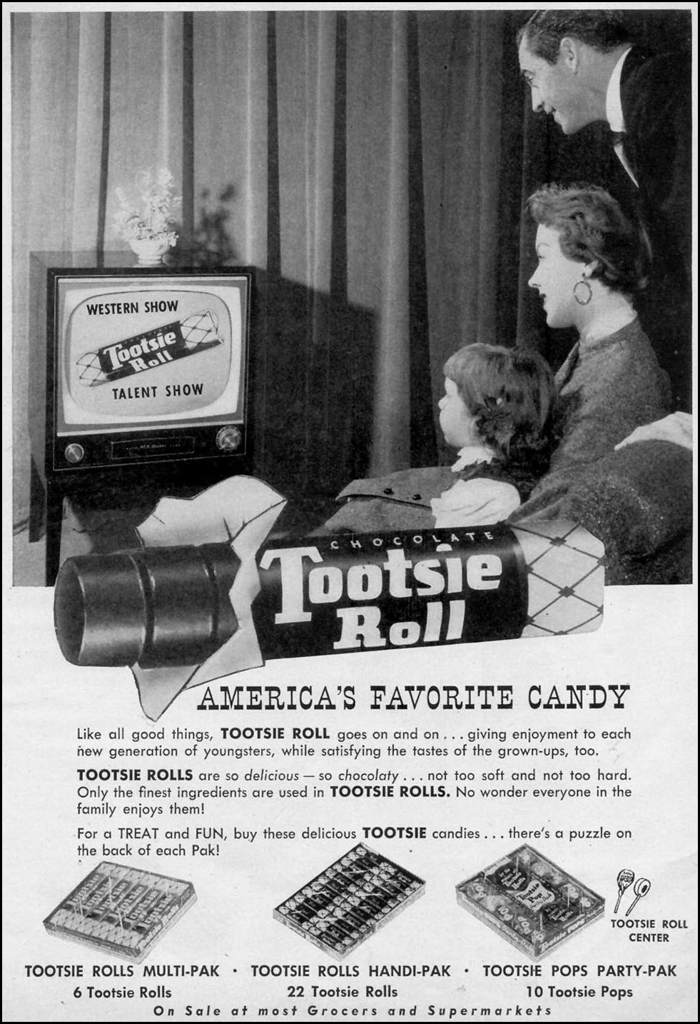 TOOTSIE ROLL WOMAN'S DAY 03/01/1954 p. 7