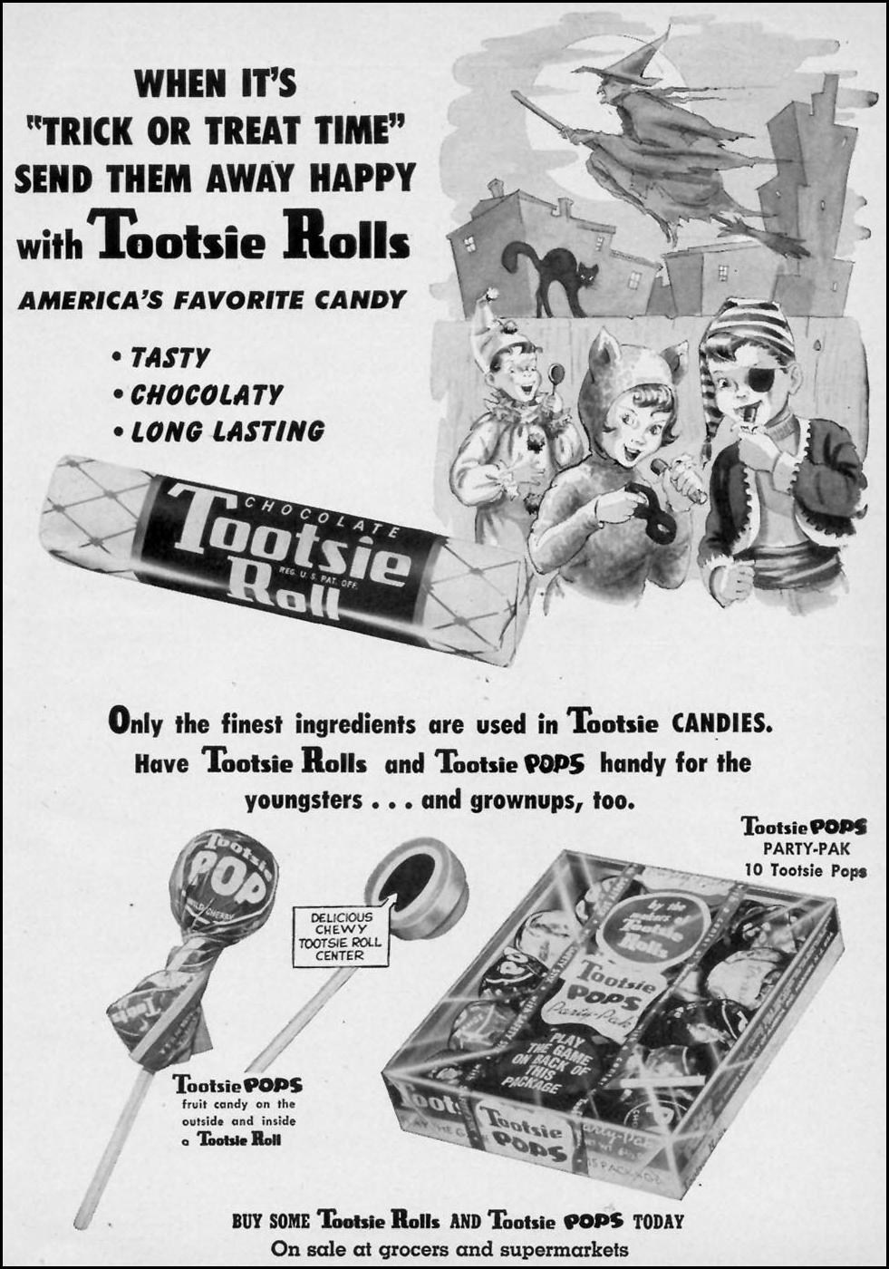 TOOTSIE ROLL WOMAN'S DAY 10/01/1954 p. 155