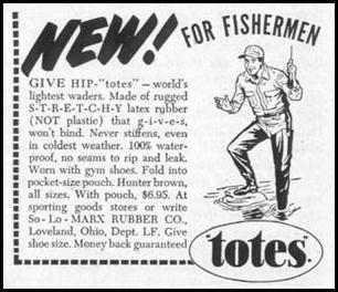 TOTES HIP WADERS LIFE 11/14/1955 p. 24