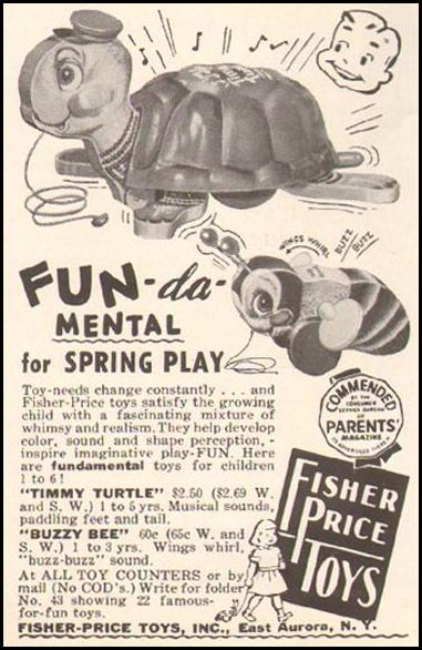 FISHER-PRICE TOYS LADIES' HOME JOURNAL 03/01/1954 p. 184