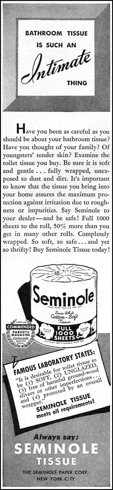 SEMINOLE BATHROOM TISSUE