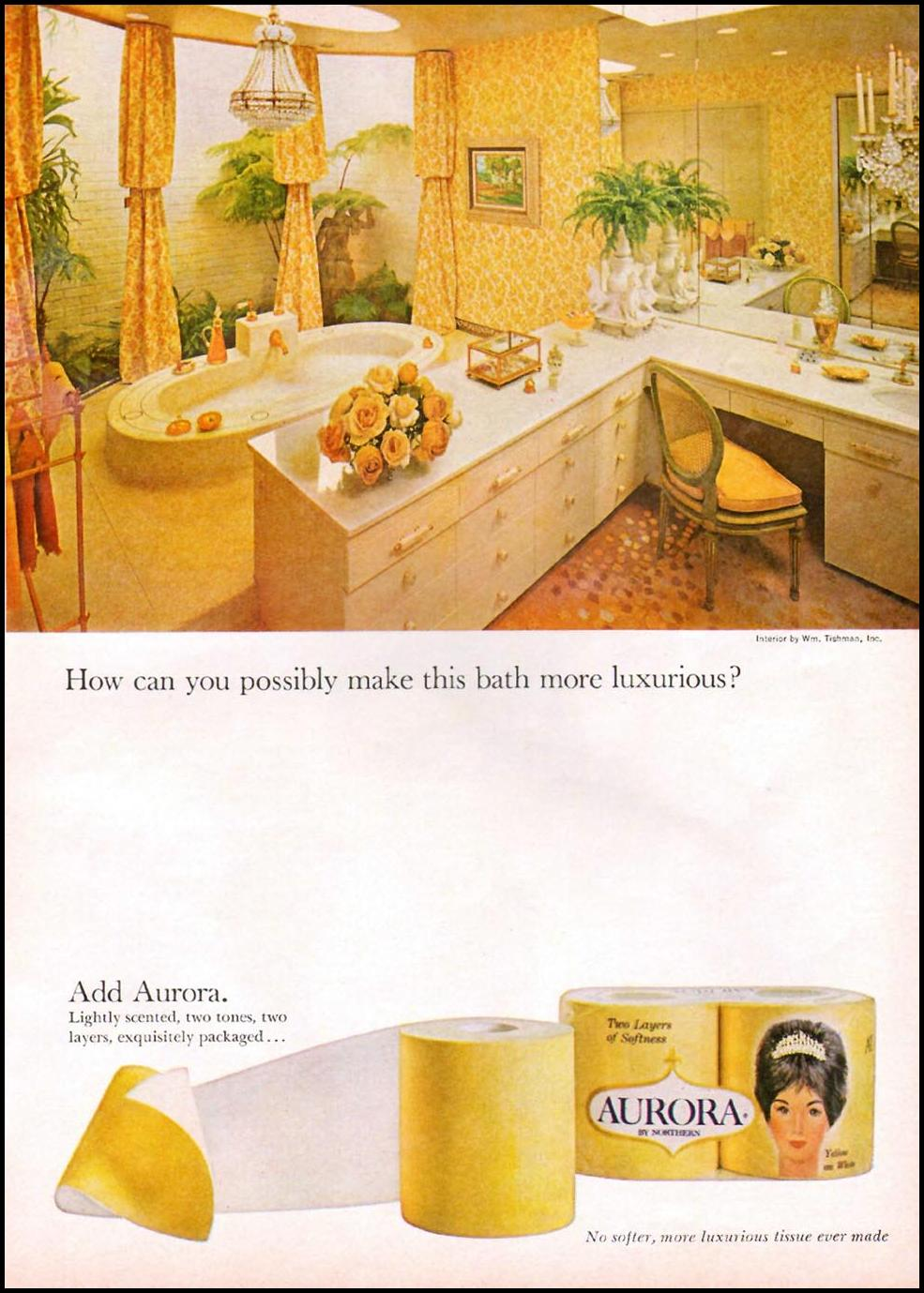 AURORA BATHROOM TISSUE GOOD HOUSEKEEPING 10/01/1965