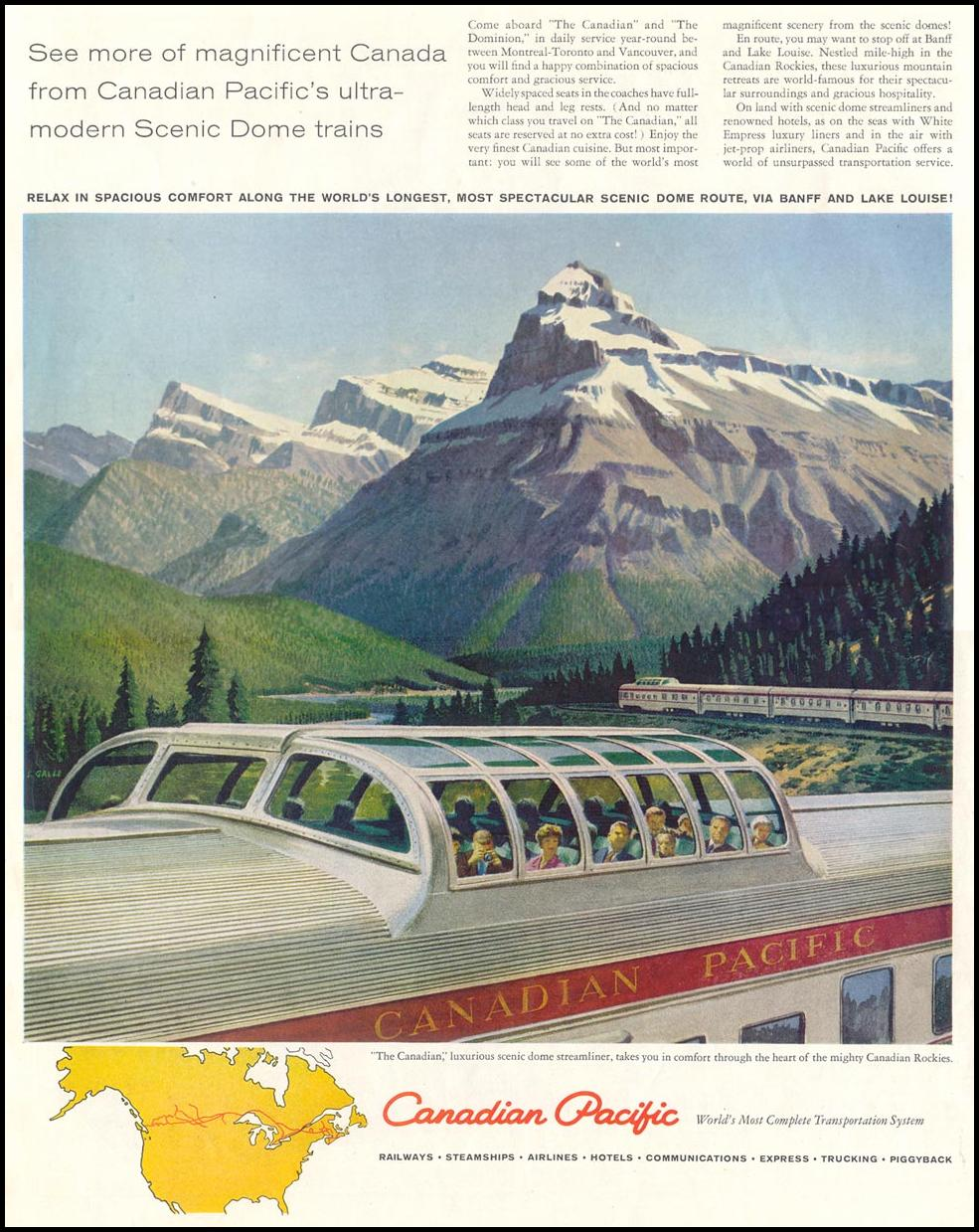 RAIL TRAVEL SATURDAY EVENING POST 05/02/1959