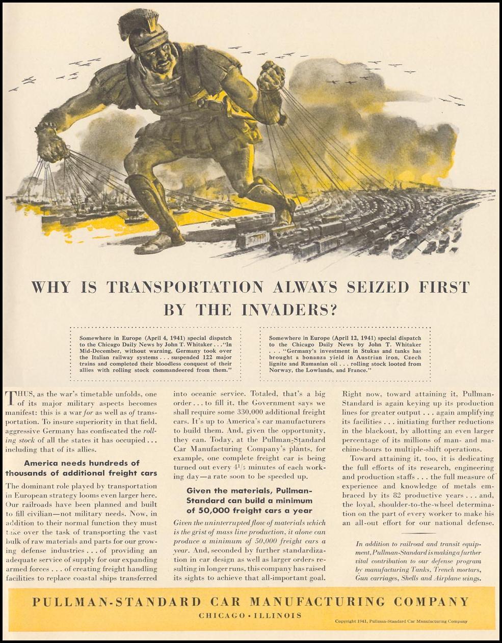 PULLMAN WAR PRODUCTION LIFE 10/13/1941 p. 137