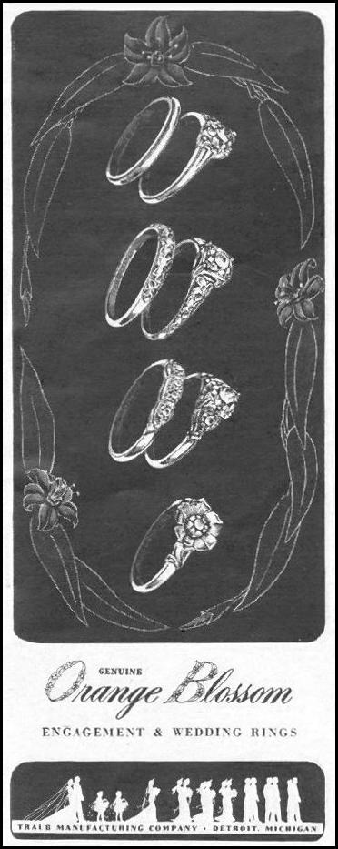 ENGAGEMENT AND WEDDING RINGS LIFE 10/25/1943 p. 19
