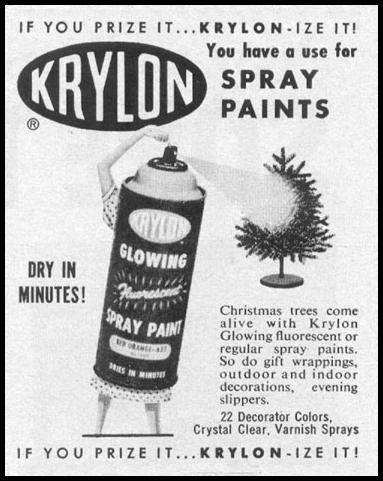 KRYLON SPRAY ENAMEL PAINT LIFE 12/14/1959 p. 129