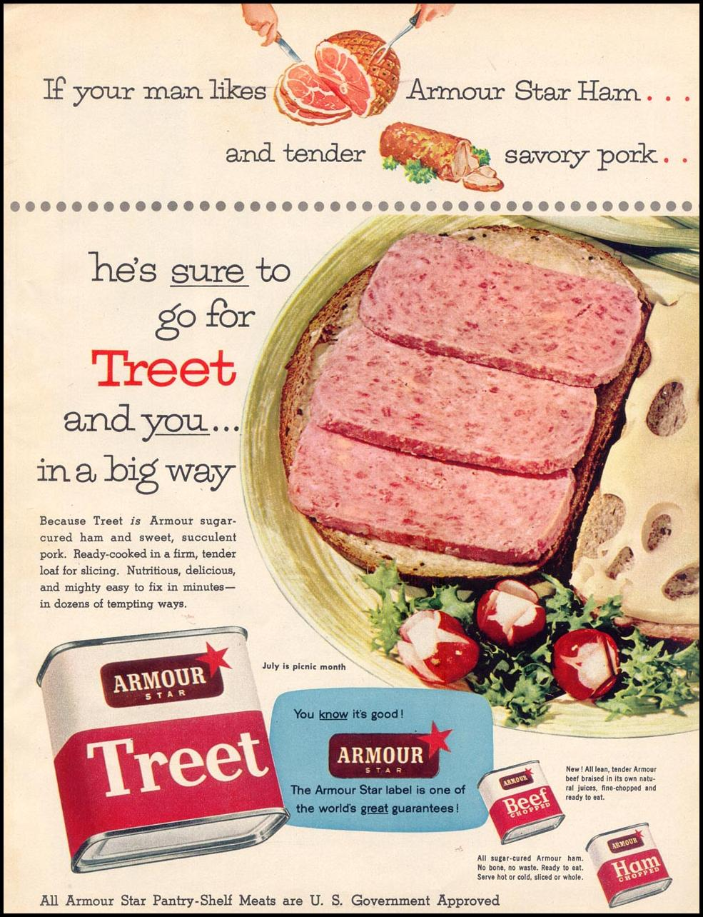 ARMOUR'S TREET WOMAN'S DAY 07/01/1955 p. 13