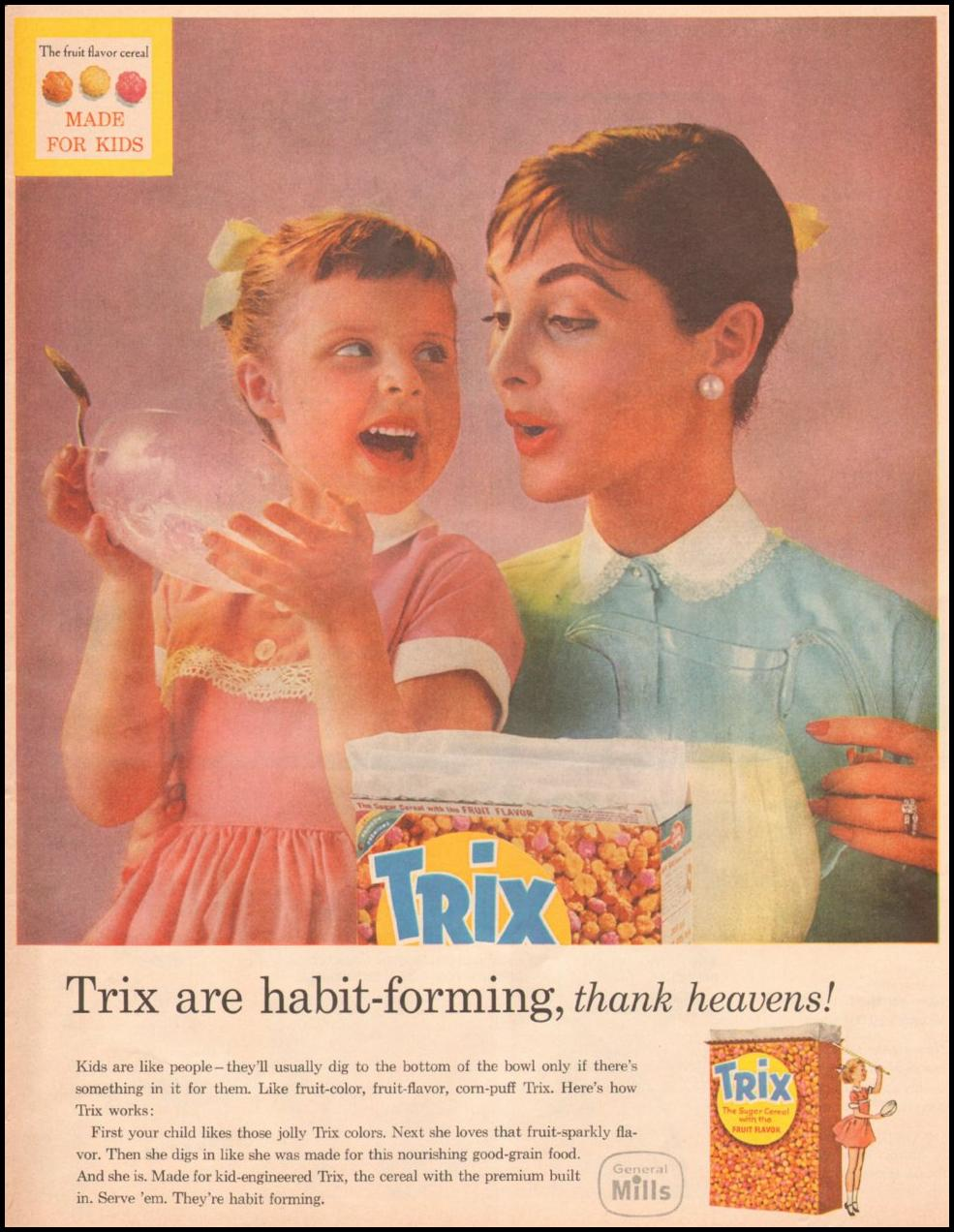 TRIX CEREAL LOOK 10/29/1957 p. 125