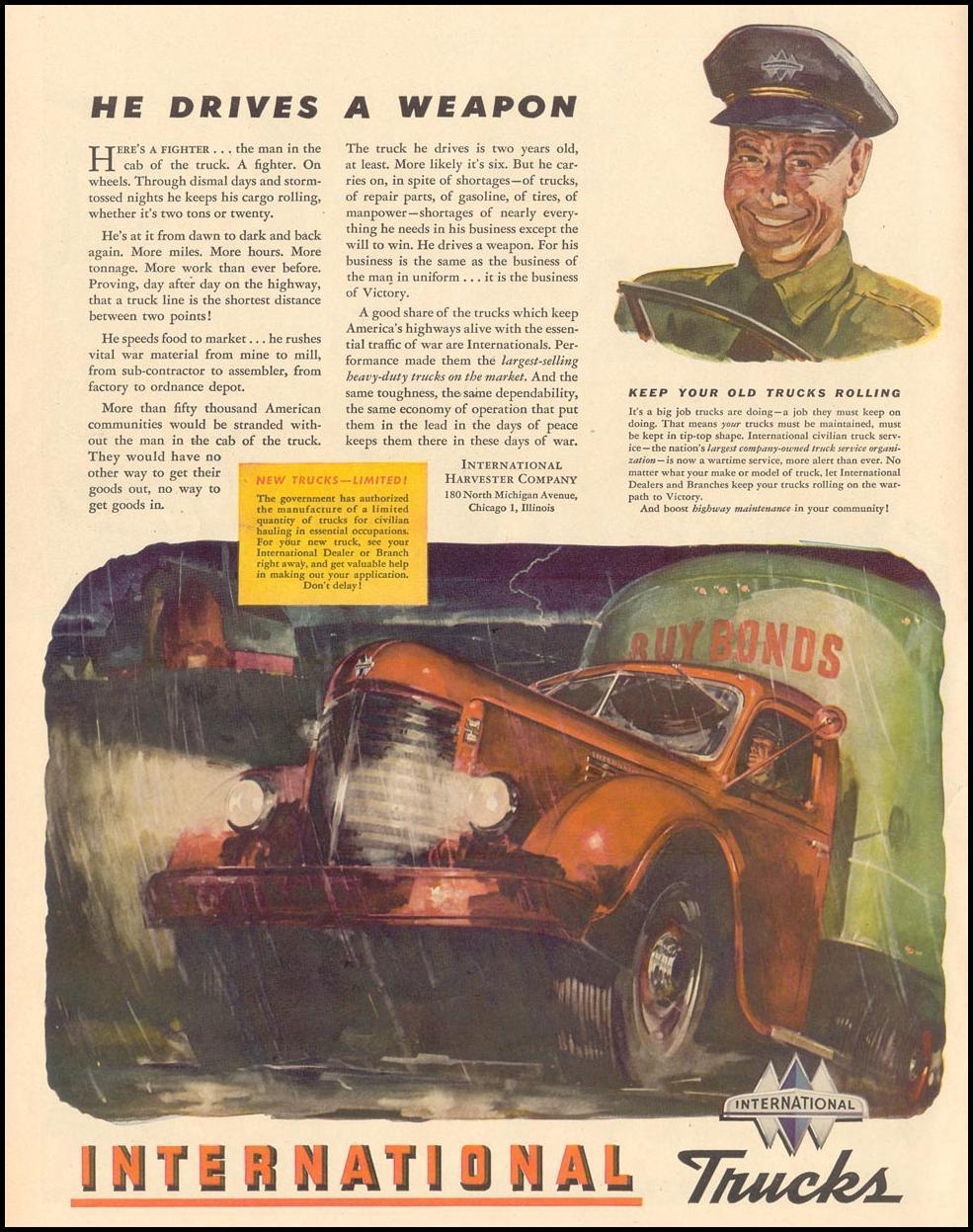 INTERNATIONAL TRUCKS LIFE 02/21/1944