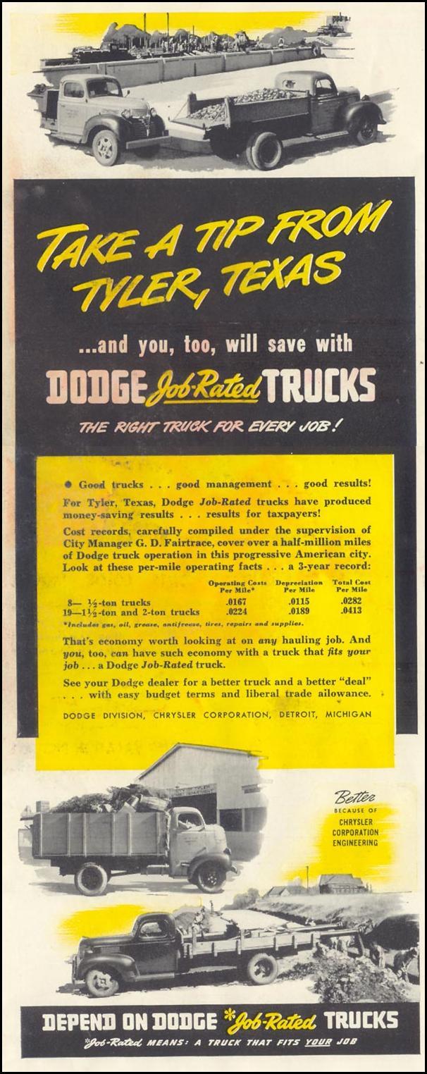 DODGE TRUCKS LIFE 06/23/1941 p. 90