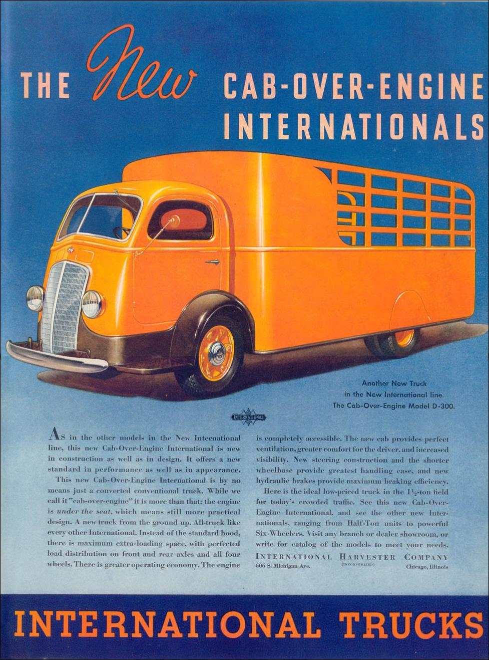 INTERNATIONAL CAB-OVER-ENGINE TRUCKS LIFE 07/26/1937