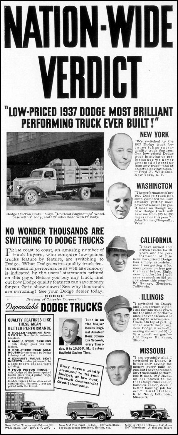 DODGE TRUCKS LIFE 08/09/1937 p. 91