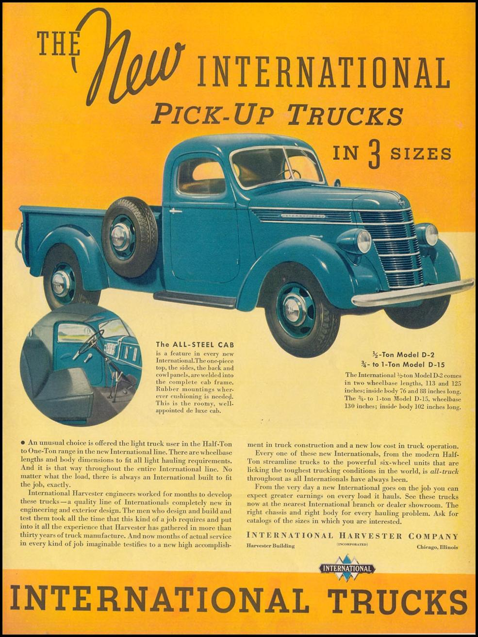 INTERNATIONAL TRUCKS LIFE 09/13/1937
