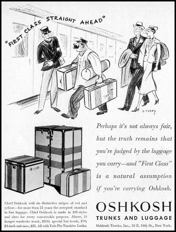 OSHKOSH TRUNKS AND LUGGAGE LIFE 08/09/1937 p. 92