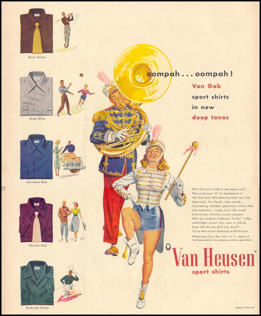 VAN HEUSEN SPORT SHIRTS LIFE 10/11/1948 p. 118