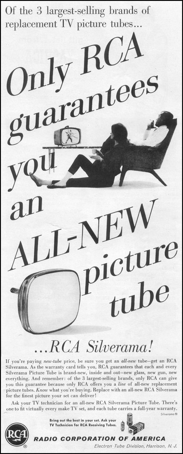 RCA SILVERAMA TV PICTURE TUBE LIFE 12/14/1959 p. 121