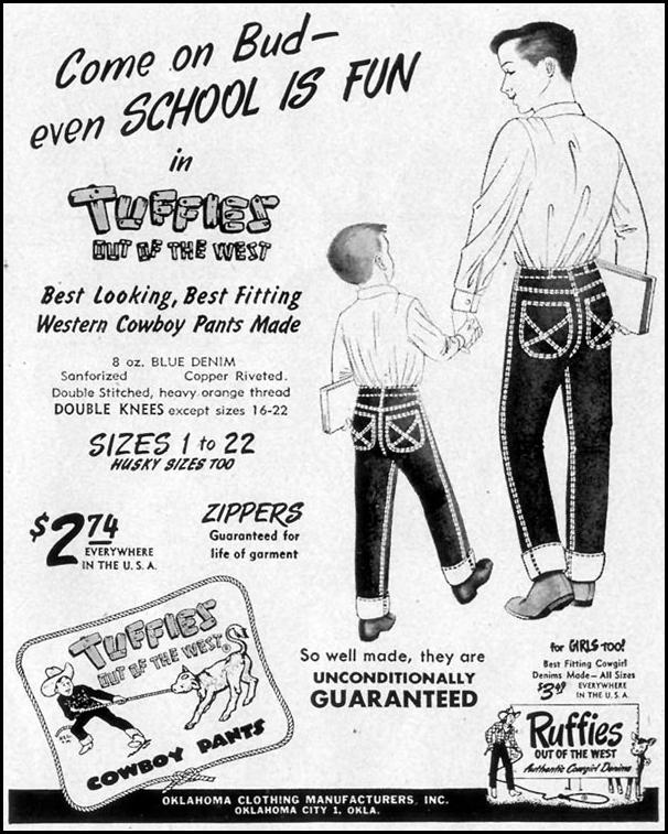 TUFFIES COWBOY PANTS LIFE 09/07/1953 p. 113
