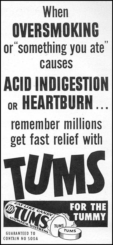TUMS ANTACID WOMAN'S DAY 02/01/1954 p. 152
