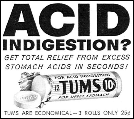 TUMS ANTACID WOMAN'S DAY 06/01/1958 p. 86
