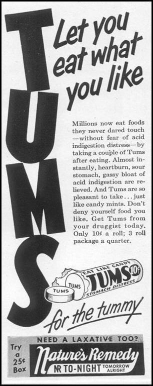 TUMS ANTACID LIFE 06/05/1950 p. 82