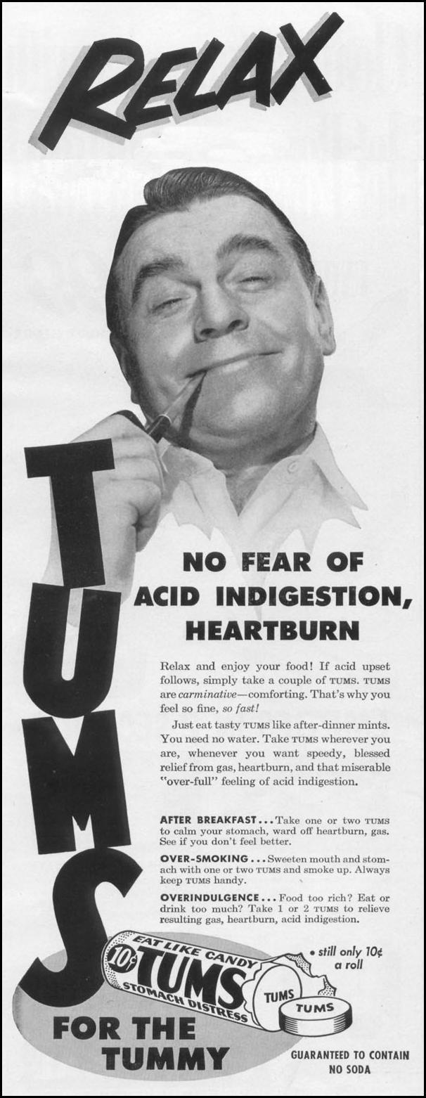 TUMS ANTACID LIFE 10/13/1952 p. 20